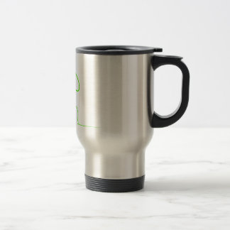 Contour of a hare light gre travel mug