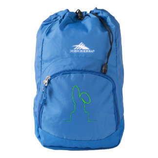Contour of a hare light green backpack