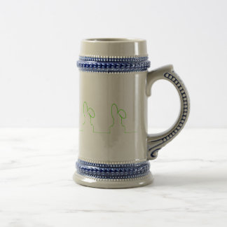 Contour of a hare light green beer stein