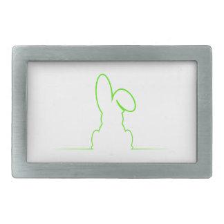 Contour of a hare light green belt buckle