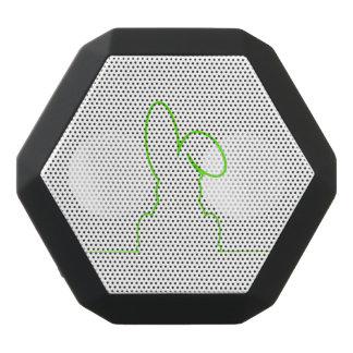 Contour of a hare light green black bluetooth speaker