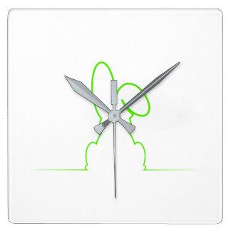 Contour of a hare light green clocks