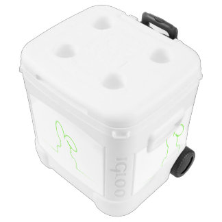 Contour of a hare light green cooler