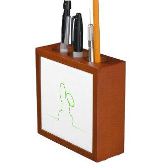 Contour of a hare light green desk organizer