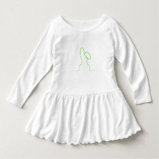 Contour of a hare light green dress