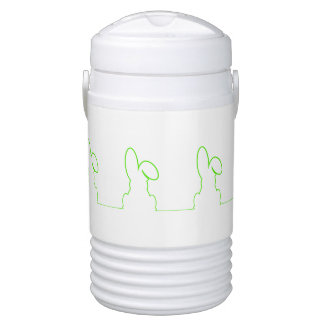 Contour of a hare light green drinks cooler