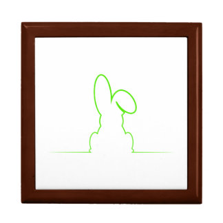 Contour of a hare light green gift box
