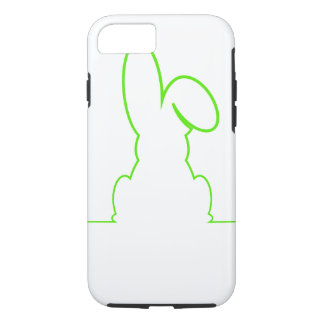 Contour of a hare light green iPhone 8/7 case