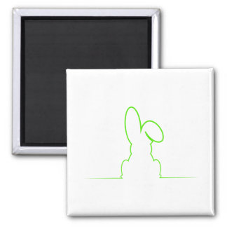 Contour of a hare light green magnet