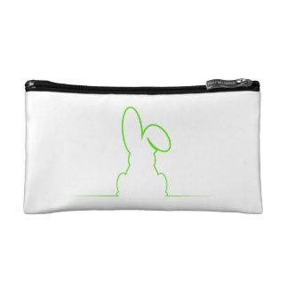 Contour of a hare light green makeup bag