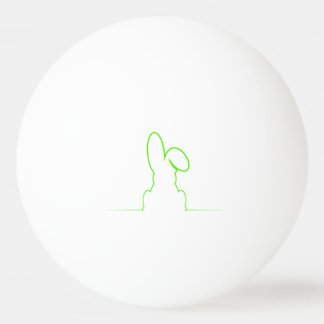 Contour of a hare light green ping pong ball