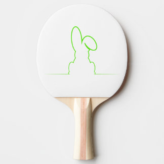 Contour of a hare light green ping pong paddle