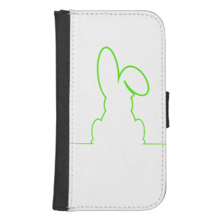 Contour of a hare light green samsung s4 wallet case
