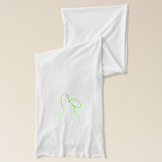 Contour of a hare light green scarf