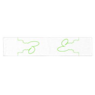 Contour of a hare light green short table runner