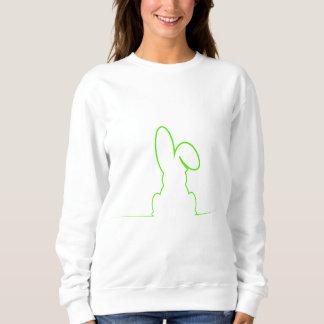 Contour of a hare light green sweatshirt