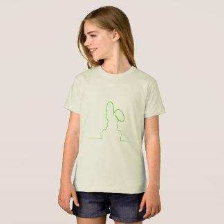 Contour of a hare light green T-Shirt