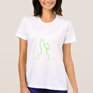 Contour of a hare light green T-Shirt