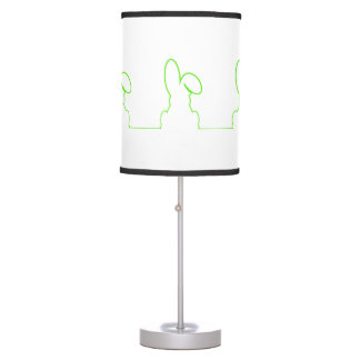 Contour of a hare light green table lamp