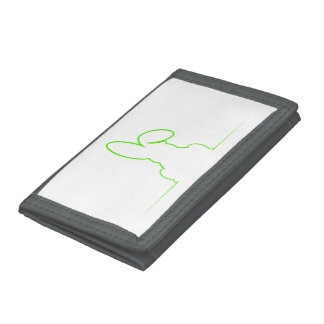 Contour of a hare light green trifold wallets