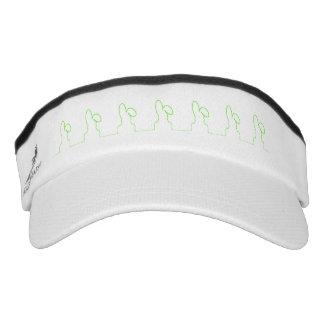 Contour of a hare light green visor