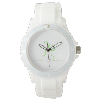 Contour of a hare light green watches