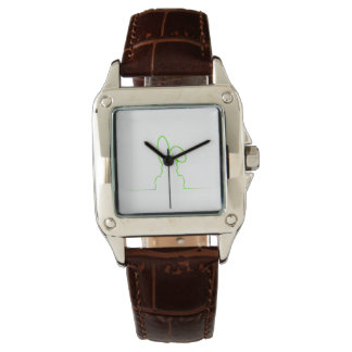 Contour of a hare light green wrist watches