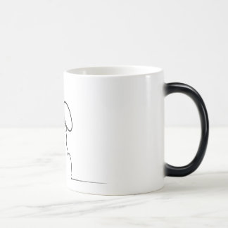 Contour of a hare magic mug