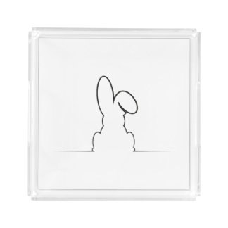 Contour of a hare perfume tray