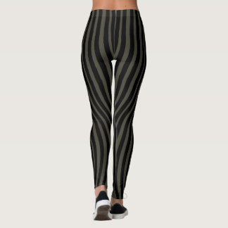 CONTOUR SLIMMING BLACK LINES by Slipperywindow Leggings