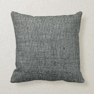 Contoured Burlap Look Pillow