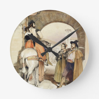 Contrabandistas, from 'Sketches of Spain', engrave Wall Clocks
