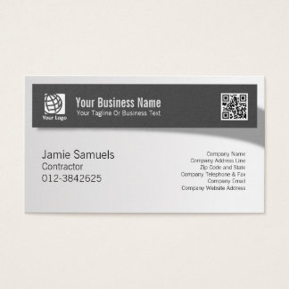 Contractor Professional Trade Skills Shadow Banner Business Card