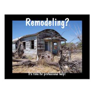 Contractor Remodeling Advertisement Postcard