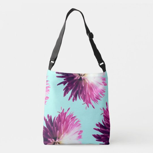 Contrast Floral adjustable tote bag