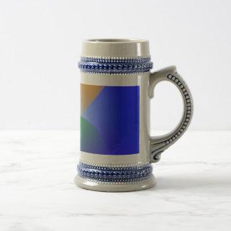 Contrast on Blue Mug