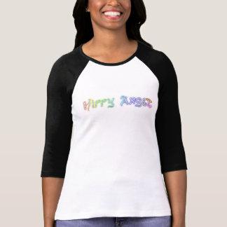 Contrast Sleeve t shirt in Hippy Angel Logo