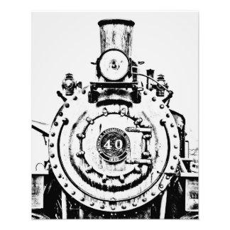Contrast Train Photo Print