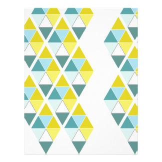 "Contrasting Triangles 8.5"" X 11"" Paper Letterhead Design"