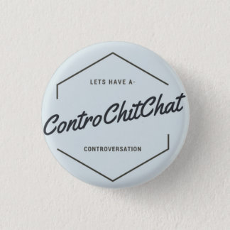 Contro chit chat 1 inch round button