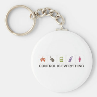 Control Is Everything  Basic Round Button Keychain