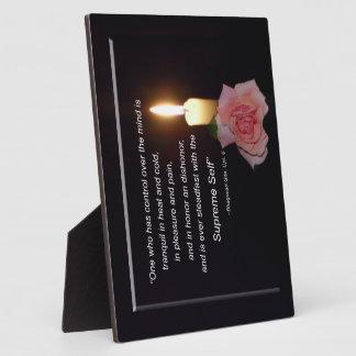 Control Over Mind – Supreme Self, Gita Quote Plaqu Display Plaque