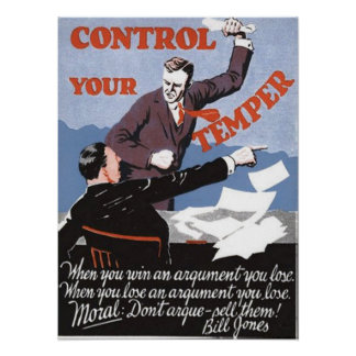 Control Your Temper Poster