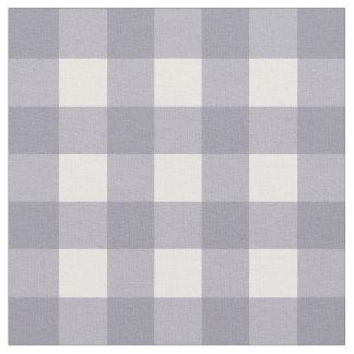 Contrôle gris et blanc lilas de guingan tissu