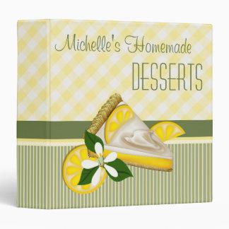 Contrôles et rayures de recette de dessert de tart