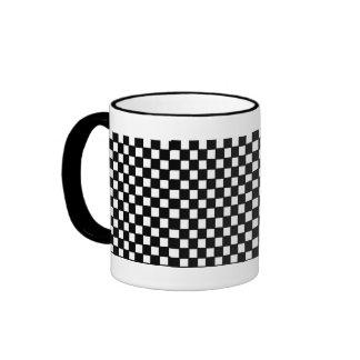 contrôleur noir et blanc tasse à café