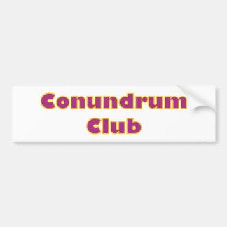 Conundrum club bumper sticker