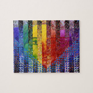 Conundrum I – Abstract Rainbow Woman Goddess Puzzle
