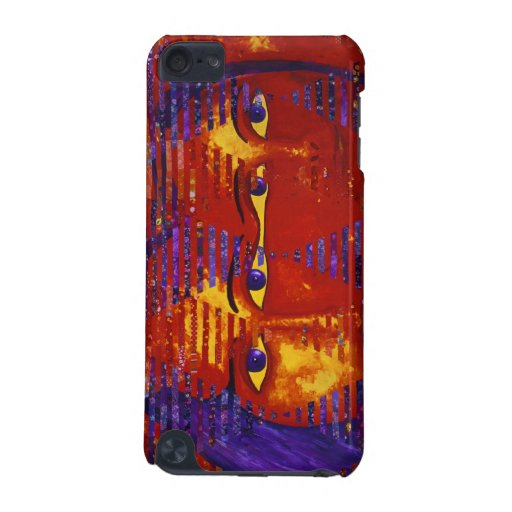 Conundrum III - Abstract Purple & Orange Goddess iPod Touch 5G Cover