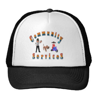 Conunity Services Traffic Control Child and Dog Trucker Hat
